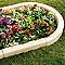 Bordure BLOOMA Cloître courbé sienne 50 x 7,5 cm