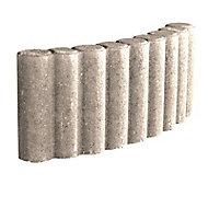 Bordure colonnade courbe ton pierre