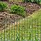 Bordure soudée BLOOMA verte 50 x 100 mm, L.25 x h.0,60 m