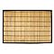 Tapis de bain antidérapant bambou clair 60 x 90 cm Bengale