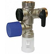 Groupe de sécurité NF 20/20x27 pour chauffe-eau alimentation verticale Diall