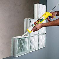 Pavé de verre incolore 20 x 20 cm, ép.80 mm
