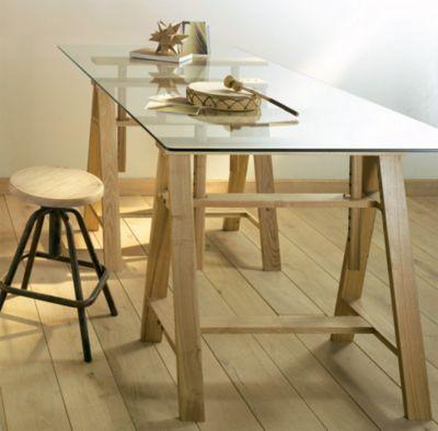 plateau en verre castorama. Black Bedroom Furniture Sets. Home Design Ideas