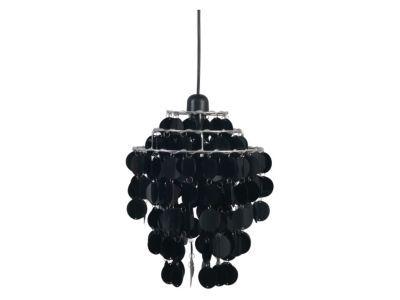 Suspension Sélect Noir H.33cm 60W - Dimensions :H 33 cm x Ø 24,5 cm - Matière : En métal et en plastique - Type de culot + Puissance* maxi : E27/60 Watts maximum - Ampoule fournie : Non - Monture fournie : Non - Coloris : Noir -