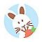 Bouton de meuble résine COLOURS Malice lapin bleu