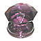 Bouton de meuble verre COLOURS Diamant pourpre