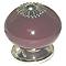 Bouton de meuble porcelaine COLOURS Dulce pourpre Ø39 mm