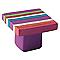 Bouton de meuble plastique COLOURS Genius rayé violet/rose