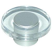 Bouton de meuble plastique COLOURS Vision transparent
