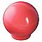 Bouton de meuble plastique COLOURS Flashy rouge Ø30 mm