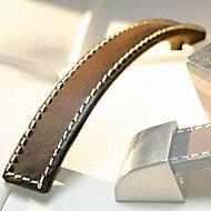 Poignée de meuble cuir Colours Torero choco 96 mm