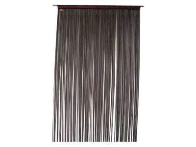 Rideau de fils Defil' CASTO' - Matière : 100% polyester - Dimensions : Largeur 110 x Hauteur 240 cm - Coloris : Noir -
