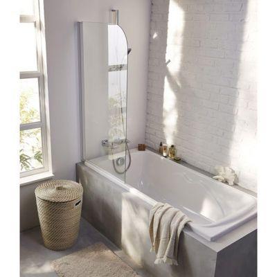 Pare baignoire 1 volet form brise 70 x 130 cm castorama - Pare baignoire relevable ...
