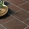 Carrelage sol et mur chocolat 45,5 x 45,5 cm Asiago (vendu au carton)