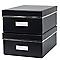 2 boîtes de rangement Manhattan T2 coloris noir