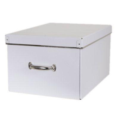 sélection premium 6f41a a50bb Boîte de rangement Manhattan T4 coloris blanc | Castorama
