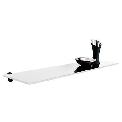 Tablette Verre Trempe Laque Blanc Form Olympe 80 Cm Castorama