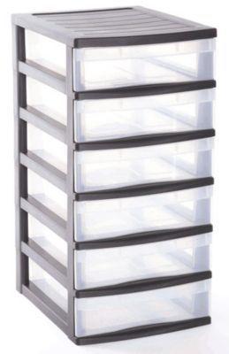 Tour de rangement 6 tiroirs en plastique Optima | Castorama