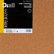 Dalle de liège et caoutchouc DIALL Isolmur 130 - 50 x 50 cm ép.13 mm (vendu par lot de 4 dalles)