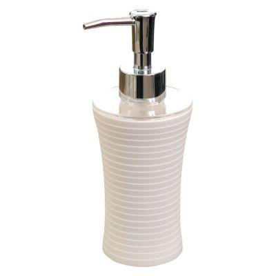 Distributeur de savon plastique blanc form cocoon