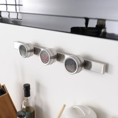 3 pots pices magn tiques en acier bross factory 6 7 x 4 6 cm castorama. Black Bedroom Furniture Sets. Home Design Ideas