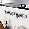 3 pots à épices magnétiques en acier brossé Factory 6,7 x 4,6 cm