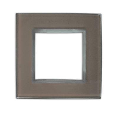 Plaque de finition colours kalya simple verre muscade