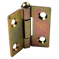 2 charnières démontables acier bichromaté Diall 70 x 70 mm
