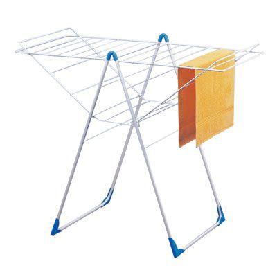 Séchoir à linge à poser + filet pour pulls HERBY 25 m 107,2 cm