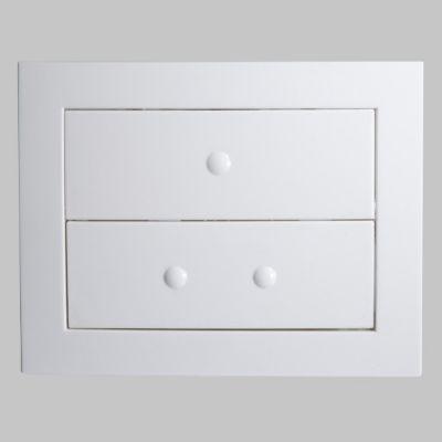 Plaque de commande pour bâti WC Lonia