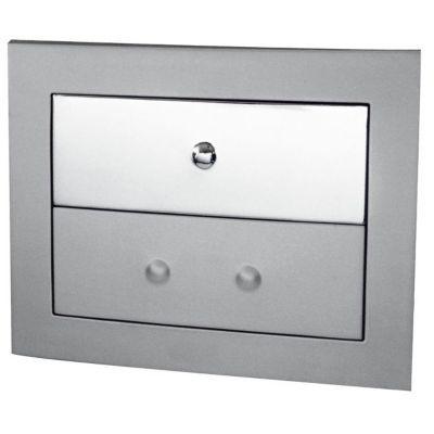 Plaque de commande pour bâti WC chrome brillant Lonia