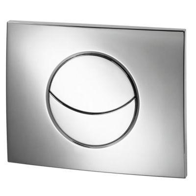 Plaque de commande pour bâti WC chrome brillant Ondine