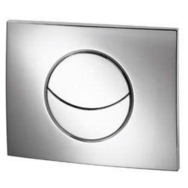 Plaque de commande pour bâti WC chrome mat Ondine