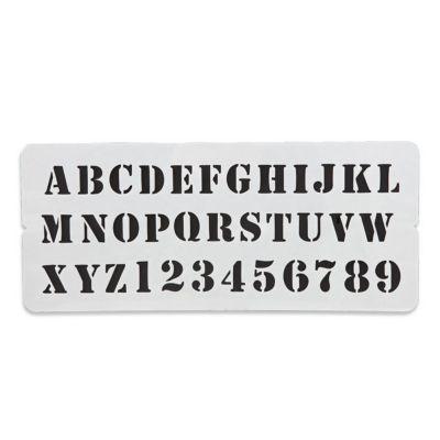 pochoir imprimerie colours alphabet castorama. Black Bedroom Furniture Sets. Home Design Ideas