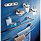 Porte-serviettes 1 barre à fixer en métal chromé Identity 60 cm