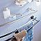 Porte-serviettes 2 barres à fixer en métal chromé Identity 60 cm