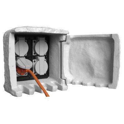 borne jardin lectrique 4 prises diall castorama. Black Bedroom Furniture Sets. Home Design Ideas