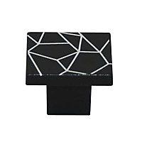 Bouton de meuble plastique COLOURS Bicolor noir/blanc Ø31 mm