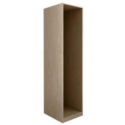 Caisson chêne Darwin - Décor : chêne - Dimensions du produit (cm) : L. 50 x P. 37,4 x H. 200,4 - Matière : panneau de particules avec feuille décor chêne, fond en HDF - Finition : chêne - Epaisseur des panneaux (mm) : 18 - Conseil d'utilisation : La quinc
