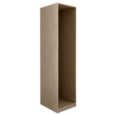 Caisson chêne Darwin - Décor : chêne - Dimensions du produit (cm) : L. 50 x P. 37,4 x H. 235,6 - Matière : panneau de particules avec feuille décor chêne, fond en HDF - Finition : chêne - Epaisseur des panneaux (mm) : 18 - Conseil d'utilisation : La quinc