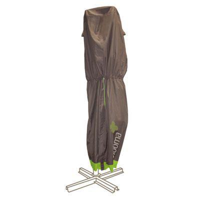 Housse pour parasol Blooma marron Ø100 x 225 cm   Castorama