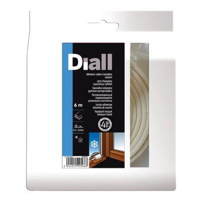Joint Caoutchouc Adhésif Diall Profil P 2 5 à 4 5 Mm Blanc L 6 M Castorama