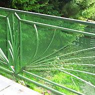 Grillage maille carrée vert 2cm, L. 3 x H. 1 m