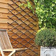 Treillis en bambou noir 2 x 1m