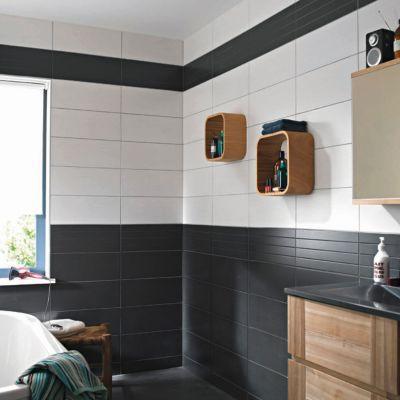 carrelage mur gris anthracite 20 x 50 cm ema vendu au. Black Bedroom Furniture Sets. Home Design Ideas