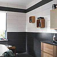 Carrelage mur gris anthracite 20 x 50 cm Ema
