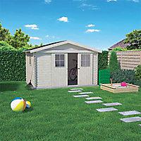 Abri de jardin bois Blooma Gent, 7,65 m² ép.19 mm