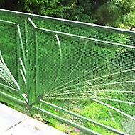 Grillage maille carrée vert 0,5cm, L. 3 x H. 1 m