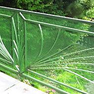 Grillage maille carrée vert 1cm, L. 3 x H. 1 m