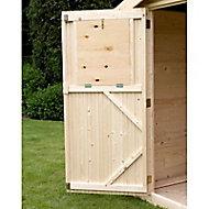 Volets intérieurs porte pour abri de jardin bois Castorama Gent